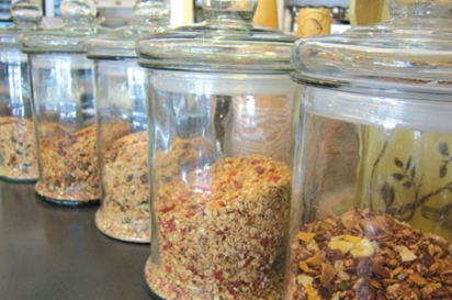 Housemade granolas at Cafe on the Common