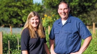 Mindy Blodgett and Juston Enos of Full Table Farm in Yountville