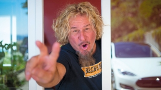 Sammy Hagar in his home in Mill Valley, CA